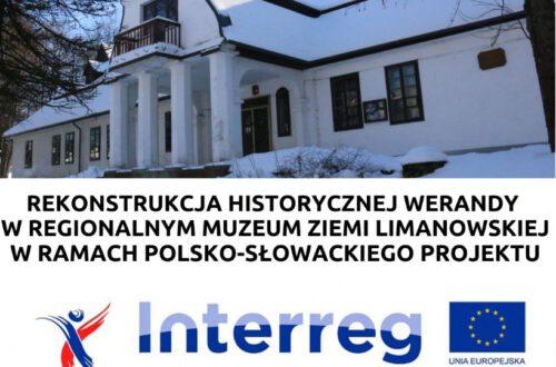 Rekonstrukcja historycznej werandy w Muzeum w ramach polsko-słowackiego projektu