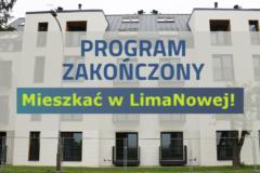 """Program """"Mieszkać w LimaNowej"""" zakończony"""