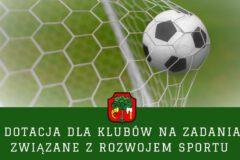 Dotacja dla klubów na działania w zakresie rozwoju sportu w 2021 roku