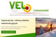 Strona internetowa oraz aplikacja promuje trasy Velo Limanowski