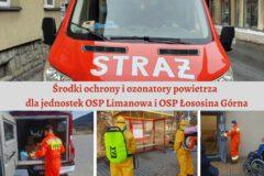 Środki ochrony i ozonatory powietrza dla jednostek OSP