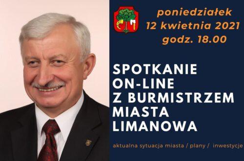12 kwietnia – czat z Burmistrzem Miasta Limanowa