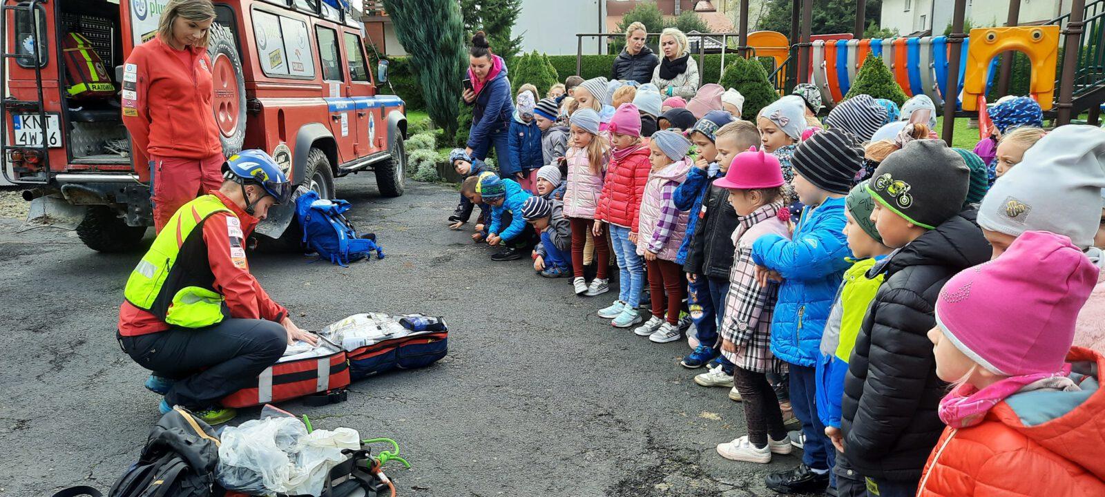 Ratownicy GOPR w Miejskim Przedszkolu nr 2 w Limanowej