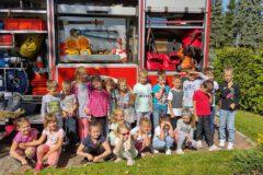Strażacy z wizytą u przedszkolaków z Miejskiego Przedszkola nr 1