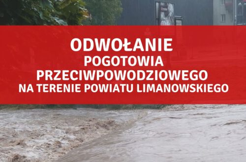 Odwołanie pogotowia przeciwpowodziowego na terenie powiatu limanowskiego