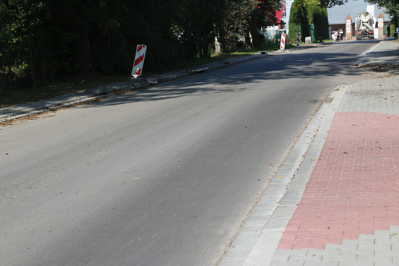 Zdjęcie przedstawiające inwestycję dotyczącą przebudowy ulicy Fabrycznej