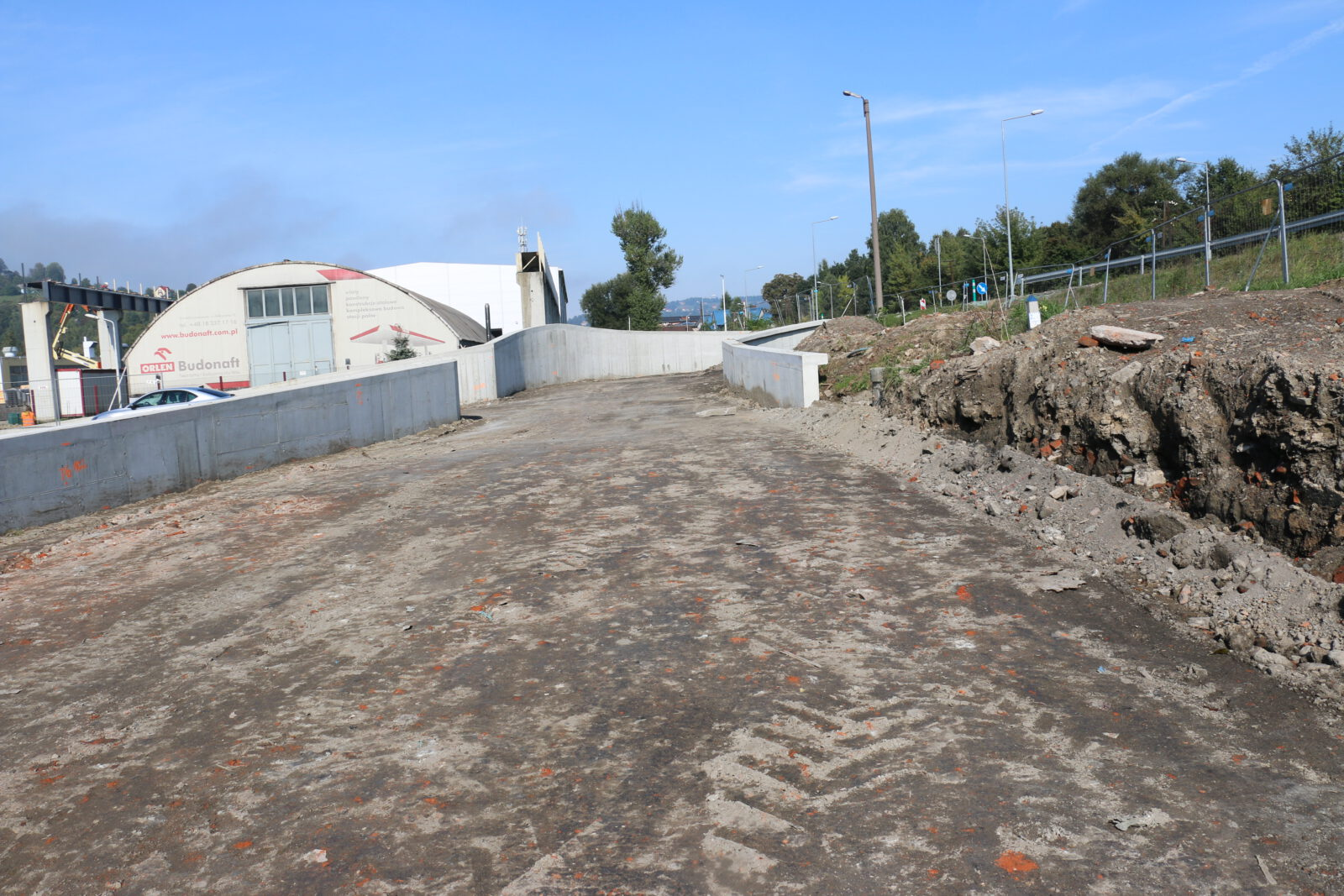 Zdjęcie przedstawiające inwestycję dotyczącą budowy łącznika ulic Witosa i Fabrycznej
