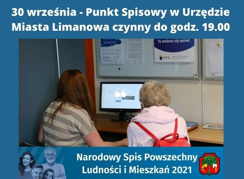 Plakat informujący o Narodowym Spisie Powszechnym Ludności i Mieszkań