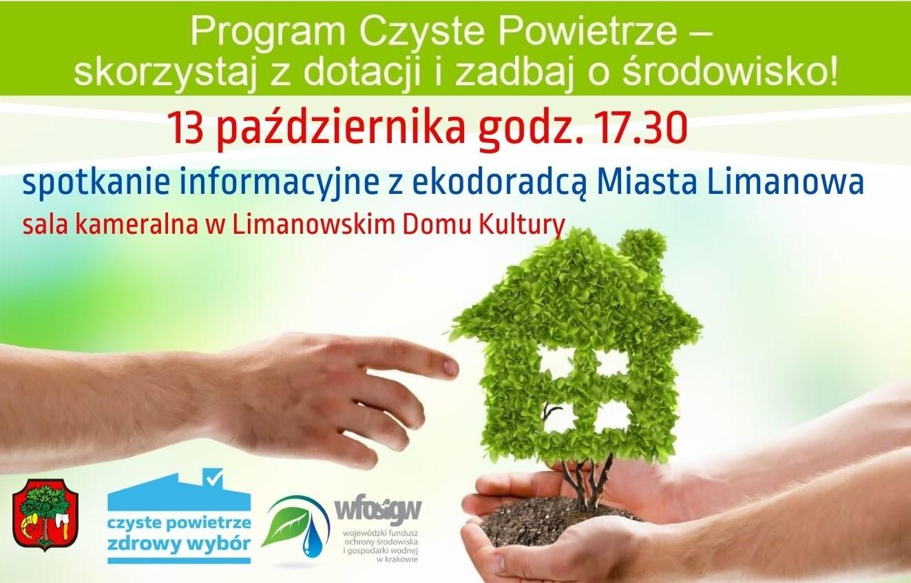 Plakat informujący o spotkaniu informacyjnym z ekodoradcą