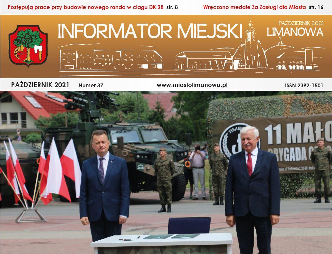Plakat informujący o wydaniu nowego numeru Informatora Miejskiego