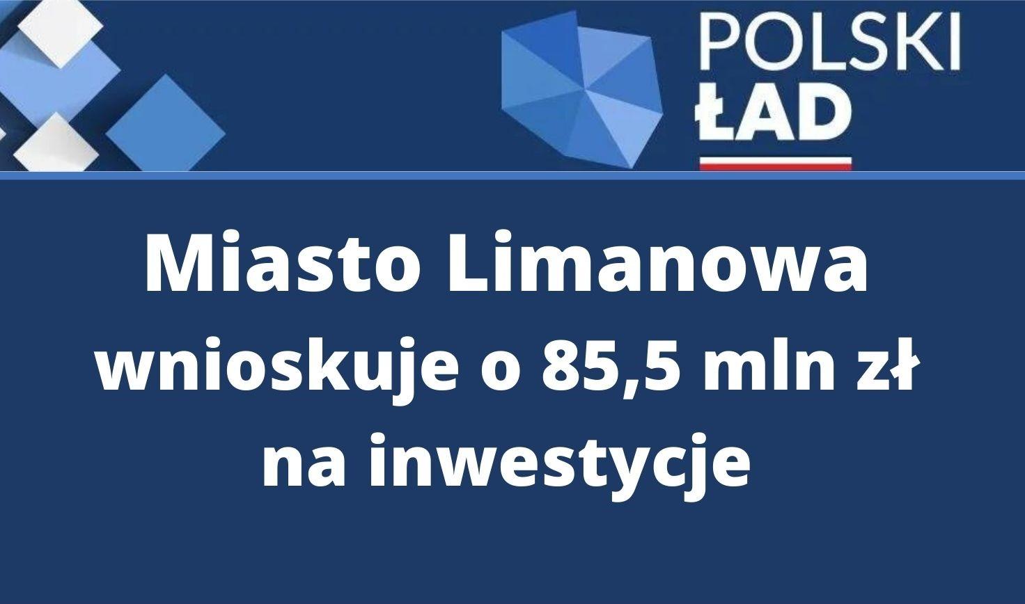 """Plakat informujący o wnioskwaniu o środki w Programie """"Polski Ład"""""""